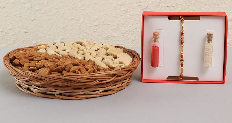 Rakhi with Dry Fruits- Perfect Gift Hamper for all Ages